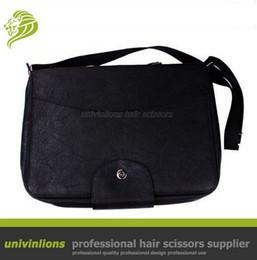 Wholesale Hairdressing Bags - Univinlions 40 60pcs hairdressing barber bag leather holder hair clipper case hairdressing scissor pouch leather scissor holster