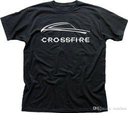 Marca chrysler on-line-2018 Nova Marca T Shirt Homens Chrysler CROSSFIRE V8 SRT6 Roadster carro preto t-shirt de algodão 9898 Impresso T Streetwear Dos Homens