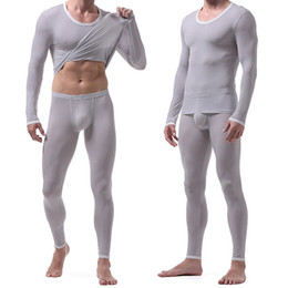 Wholesale Tights Men Thin - Men's Sportswear Tight Stretch Super Thin Tracksuits Breathable Running Fitness Long Sleeve T-shirt Leggings Sport Clothing Set