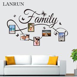 2019 marcos de fotos de calidad Diy familia marco de fotos etiqueta de la pared sala de estar dormitorio tatuajes de pared decoración para el hogar de alta calidad de vinilo etiqueta de la pared art decal