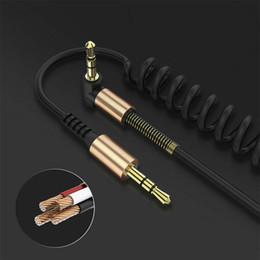 усилитель громкоговорителей для компьютера Скидка 3.5 мм между мужчинами аудио кабель гибкая пружина Локоть 1.8 м Aux линия для компьютера ноутбук ТВ DVD усилитель динамик CD-плеер