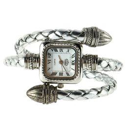 недорогие наручные часы Скидка Самый дешевый стильный подарок Леди маленькая женская девушка змея стиль браслет Кварцевые наручные часы Relogio Saat