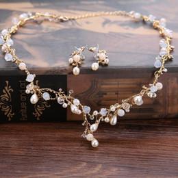 Bijoux de mariée collier boucles d'oreilles ensemble accessoires de mariage photo de mariage boucles d'oreilles accessoires de robe de mariage ? partir de fabricateur