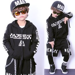 Wholesale Jazz Costumes For Girls - Fashion Children's Street Dance Suits Long Sleeve Hip Hop Hoodie + Pants For Boys Girls Plus Jazz Costumes Harajuku Dance Sets