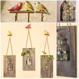Wholesale Hangers For Clothes - Creative Birds Wall Hook Wall Housekeeper Hooks Coat Clothes Hanger Hooks For Hanging Key Rack Housekeeping Kitchen Accessories