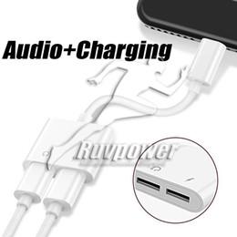 ônibus para iphone Desconto Para iphone x adaptador de cabo aux cabo de carregamento fones de ouvido música para iphone 7 8 plus aux plugue jack fones de ouvido de carregamento e cabo de áudio