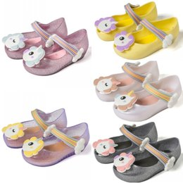white toddler girls sandals Coupons - New Summer Dargon Sandals Mini Melissa Shoes Cute Jelly Shoe Fish Mouth Girl anti skid Kids Sandal Toddler