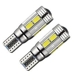 Wholesale Parks Nissan - 50pcs T10 W5W 10SMD 5630 LED Canbus No Error Car Auto License Plate Light Bulb parking