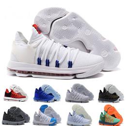 new product 7a20a db875 2018 Männer Basketball Schuhe 10 Jahrestag Universität noch KD Iglu BETRUE  Oreo Kevin Durant Elite Sport Turnschuhe kostenloser Versand