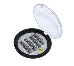 Wholesale Hair Accessories Sale - Hot sale three magnet 3D magnetic false eyelashes Natural hand-made 3 Magnetic False Eyelashes Eye lashes Beauty Makeup Accessories