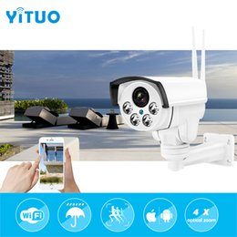 Wholesale Cctv Camera Optical Zoom - Wireless IP Bullet Security Camera 960P 4X Optical Zoom Surveillance Wifi CCTV Camera IP65 Waterproof Outdoor Camara YITUO