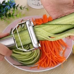 Reibe set online-Küche Zubehör Kochen Werkzeuge Multifunktions Edelstahl Julienne Peeler Gemüseschäler Doppel Hobeln Reibe neues Jahr