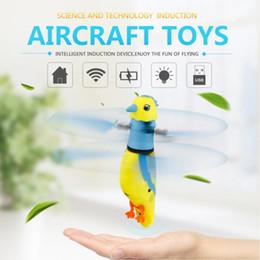 Wholesale Bird Toys Parrot - Novelty Sensing Flying Simulation Parrot With Light Birdcall Children Toys