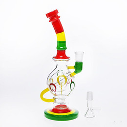 Wholesale Cheap Foams - 2018 Cheap Glass Bongs Canada Water Pipe With Foam Box Honeycomb Turbine Oil Rigs Glass Bongs Percolators Smoking Pipes Fast Shipping
