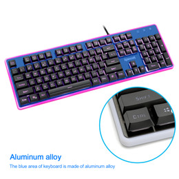 Wholesale Ghost Games - Redragon High quality Gaming mechanical keyboard 7 backlit color light Full key anti-ghosting 104 keys USB wired PC game K509