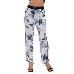 d4480ac7d9b Summer Women Straight Pants Mid Waist Loose Straight Full Length Pants  Womens Beach Wear Large Size