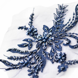 Patch 3D en dentelle de broderie avec des perles robe de mariée bricolage dentelle applique D020 ? partir de fabricateur