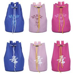 59fd54a3563 Bolso de baile azul   rosa   rosa para niños Bolso de danza latino para  niños Bandolera de lona Bolso de ballet con cordón para niñas Bolsos de  ballet de ...