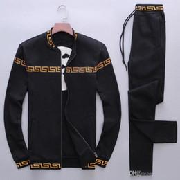 Wholesale Velour Running Suit - Fashion Tracksuits Men Leisure Sport Suit Luxury Men's Sportswear Brand design Jogger Set Cool Sweatshirt free shipping