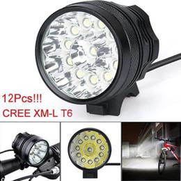Самые высокие lm горелки онлайн-Высокое качество супер яркий 30000 Лм 12 * CREE T6 LED 3 режима велосипед лампа велосипед свет фар Велоспорт Факел водонепроницаемый прочный 20