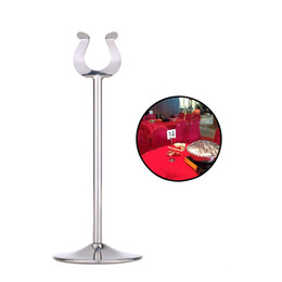 "Wholesale Menu Wedding - 8"" 12'' Stainless Steel U Shaped Table Number Place Card Menu Holder Stand for Wedding Restaurant Party Festival Decoration"