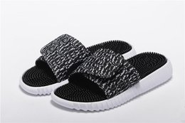 Wholesale Black White Polka Dot Heels - High quality outdoor new men womens 350 casual shoes slippers soft bottom massage fitness health slippers black and white size:36-44