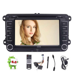 Wholesale Vw Golf Car Stereo Phone - Android 6.0 Quad Core Car headunit Stereo car DVD GPS navigation For VW Volkswagen Golf Sharan Jetta Skoda polo Passat caddy Octavia