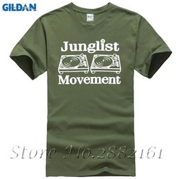 Wholesale Bass Music Man - Drum and Bass Clubbing Turntables Decks Music DNB Man Junglist Movement Mens Tops Tees Casual T-Shirt Male Short Sleeve Pattern
