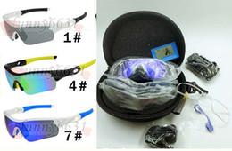 Marka tasarım MAN Polarize TR90 ÇERÇEVE Rüzgar gözlük + SERT KıLıF Kadınlar Açık Spor Bisiklet Gözlük sürüş cam 9 Renkler 5 LENS ÜCRETSIZ KARGO nereden