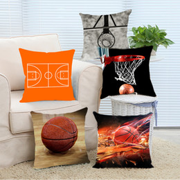 Wholesale Hotel Brand Pillows - Wholesale- Pillow Case Brand New Personalized Love Sports Basketball Stylish Square Zippered Soft Throw Pillowcase Nice Pillow Sham