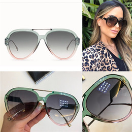 84c11e1796 New fashion designer sunglasses 0318 stitching color frame avant-garde  summer style uv400 protection eyewear for women top quality