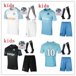 974ba270df3 kids kit 2018 Olympique de Marseille soccer jerseys with socks 18 19  THAUVIN L.GUSTAVO payet maillot de foot football shirts