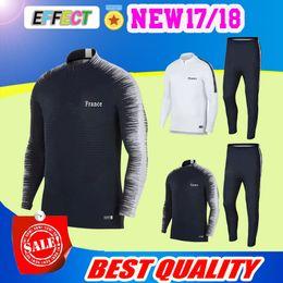 27b7ff8f01 futebol azul escuro Desconto Top thai qualidade 17 18 jaqueta azul escuro  ternos de Treinamento de