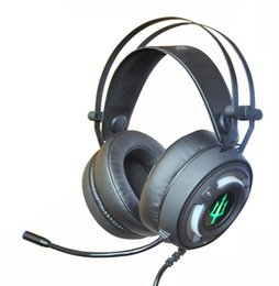 Kopfhörer 7.1 vibration online-Neue 7.1-Kanal-Heimkino-Surround-Vibration atmen LED-Gaming-Headsets Kopfhörer für Computer PS4 Web-Bar.