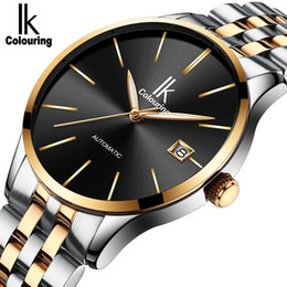 Wholesale Men Heart Watch - IK Coloring Luxury Brand Men's Watch Sports Wristwatch Men's Business Mechanical Automatic Wrist Watches For Men