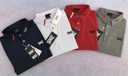 Wholesale Sports Shirts Collar - 2018 Mens PXG Polo Golf Shirt Short Sleeve Outdoor Training Sport Turn-down Collar T-Shirt 9Colors S-XXXL Free shipping