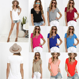 Wholesale ladies silk clothing - Ladies spring and summer silk V collar T-shirt short sleeved T-shirt Leisure and comfortable home clothing GGA484 12pcs