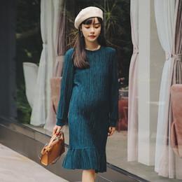 61c4d6228ba7 Autunno Slim Bottom Abito di maternità per le donne incinte Abiti Lady  Dress Gravidanza Abiti Gravidas Abbigliamento premaman dresses for pregnant  ladies ...