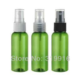 Wholesale beautiful perfume bottles wholesale - Free shipping 50ml green spray PET beautiful bottle , plastic bottle packaging , miniature perfume bottles 50pc lot