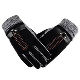 2019 guanti da lavoro in pelle manica con manico Guanto da uomo in pelle impermeabile antivento per uomo, più guanti in velluto da uomo 2019 guanti invernali da uomo in pelle scamosciata sintetica