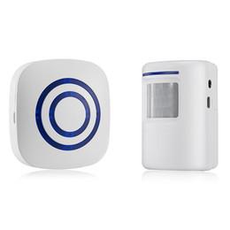 Wholesale Infrared Sensor Wireless Alarm - Digital Wireless Doorbell Welcome Body Door Bell with PIR Sensor Infrared Detector Induction Alarm Home Security 10PCS LOT