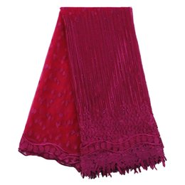 Wholesale Cord Net - african cord lace fabric for wedding French Lace net Fabric With Stone 5yard tulle lace fabrics
