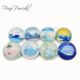 Wholesale Cute Couple Animals Cartoon - 1pcs 25mm Cute Small Cartoon Blue Whale Breastpin Crystal Sea Animal Brooch Party Packsack Decoration Couples Gift H036