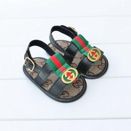 Canada Été Bébé PU Chaussures Nouveau-Né Garçons Filles Cartoon Premier Walker Chaussures Non-slip Infant Prewalker Sandale Chaussures Offre