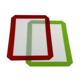 dabs en cire Promotion Tapis antiadhésifs en silicone pour la cire à l'huile de tampon de cuisson de tapis de cuisson en silicone à la cire de 30 cm x 21 cm