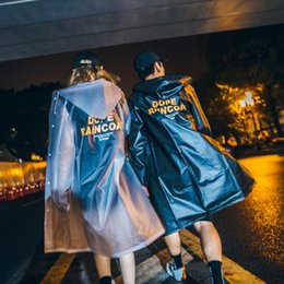 Wholesale Fashion Raincoats - Spring Summer New Style Printing Pure Color Transparent Male Lovers Waterproof Coat New Fashion Man Women's Raincoats