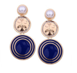 Wholesale black diamond drop earrings - Wholesale PCS! Brand 14K Gold Silver Stud Earrings Pearl Diamond Corsage Classic Designer Letter Logo Collar Pin Party Wedding Jewelry AA2