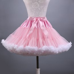Wholesale Tulle Crinoline Short - 2018 New Adult Short Tulle Pettiskirt Colorful Tutu Skirt Crinoline Jupon Saia for Women
