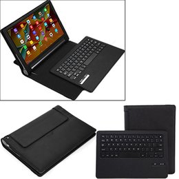 Wholesale tablet cover bluetooth keyboard - Tablet Case Business Portable Bluetooth Keyboard with PU Leather Case Cover For Lenovo Yoga Tab 10.1 plus PRO 10 and Tab 3 plus