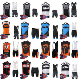 b1b37eafab2 KTM team Cycling Sleeveless jersey Vest (bib)shorts sets Bike Wear  Comfortable Anti Pilling Hot New racing wear D1329 inexpensive ktm cycling  jersey